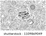 line art vector hand drawn... | Shutterstock .eps vector #1109869049