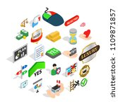 guidance icons set. isometric... | Shutterstock .eps vector #1109871857