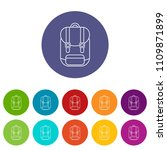 backpack icons color set vector ... | Shutterstock .eps vector #1109871899