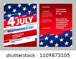 happy independence day 4 th... | Shutterstock .eps vector #1109873105