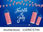 fourth of july  usa... | Shutterstock .eps vector #1109873744