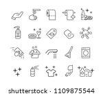 hygiene icons set vector   Shutterstock .eps vector #1109875544