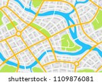 abstract city map banner.... | Shutterstock .eps vector #1109876081