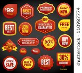 set of vector badges and... | Shutterstock .eps vector #110987774