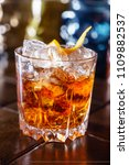 cocktail in teh bar | Shutterstock . vector #1109882537