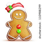 Cartoon Gingerbread Man With...