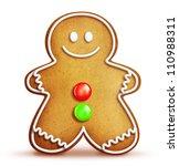 cartoon gingerbread man | Shutterstock . vector #110988311