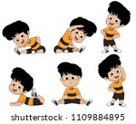 kids are warming up with... | Shutterstock .eps vector #1109884895