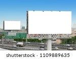 advertising concept  blank... | Shutterstock . vector #1109889635