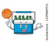 with basketball freezer bag... | Shutterstock .eps vector #1109889911