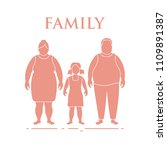 family. mom  dad and daughter.... | Shutterstock .eps vector #1109891387