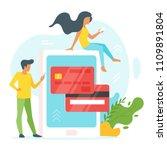vector flat style illustration... | Shutterstock .eps vector #1109891804