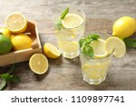 glasses of natural lemonade... | Shutterstock . vector #1109897741