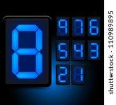 Digital Led Numbers. Grouped...