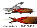 boat decal graphic vector for...   Shutterstock .eps vector #1109900435