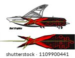 boat decal graphic vector for...   Shutterstock .eps vector #1109900441