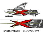 boat decal graphic vector for...   Shutterstock .eps vector #1109900495