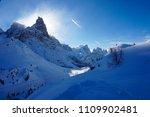 snow mountain peak backlit... | Shutterstock . vector #1109902481
