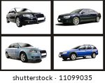 collage of motor vehicles.... | Shutterstock . vector #11099035