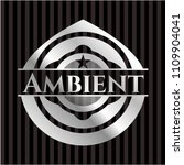 ambient silver emblem or badge | Shutterstock .eps vector #1109904041