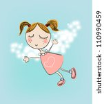 Illustration Of Little Angel...