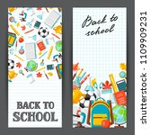 back to school banners with...   Shutterstock .eps vector #1109909231