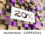 white papercut 20  symbol on... | Shutterstock . vector #1109910161