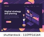 modern flat design isometric... | Shutterstock .eps vector #1109916164