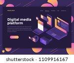 modern flat design isometric... | Shutterstock .eps vector #1109916167