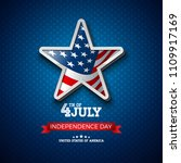 independence day of the usa... | Shutterstock .eps vector #1109917169
