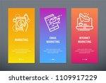 marketing  email marketing ... | Shutterstock .eps vector #1109917229