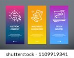 electronic commerce ... | Shutterstock .eps vector #1109919341