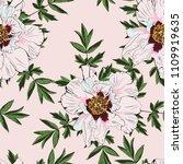 wildflower peony flower ... | Shutterstock .eps vector #1109919635