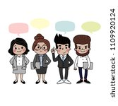 cute business people with... | Shutterstock .eps vector #1109920124