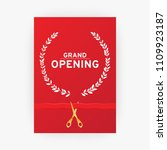 grand opening. poster with gold ... | Shutterstock .eps vector #1109923187