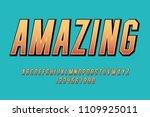 comic amazing font fun cartoon... | Shutterstock .eps vector #1109925011