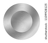 monochrome concentric circles...   Shutterstock .eps vector #1109928125