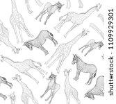 seamless pattern  background ... | Shutterstock .eps vector #1109929301