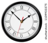 classic noble wall clock with... | Shutterstock .eps vector #1109933375