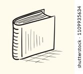 book doodle icon. hand drawn... | Shutterstock .eps vector #1109935634
