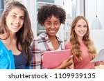 three young women as students...   Shutterstock . vector #1109939135