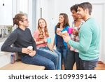 students in the coffee break at ... | Shutterstock . vector #1109939144