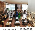 Small photo of Bangkok Thailand; 10 June 2018: The Open House is a fit for all space curated to serve everybody's tastes. Designed by Tokyo, Japan. The interior is one-of-a-kind and design of a Coffee shop, cafe.