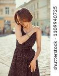 outdoot portrait of lovely...   Shutterstock . vector #1109940725