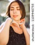 closeup portrait of adorable...   Shutterstock . vector #1109940755