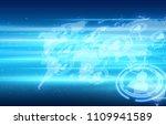social network concept | Shutterstock . vector #1109941589