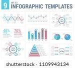 9 infographic templates  ... | Shutterstock .eps vector #1109943134