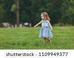 pretty little cute child baby... | Shutterstock . vector #1109949377