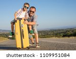 father and son standing on the... | Shutterstock . vector #1109951084