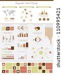 retro infographics set. world...   Shutterstock .eps vector #110995421